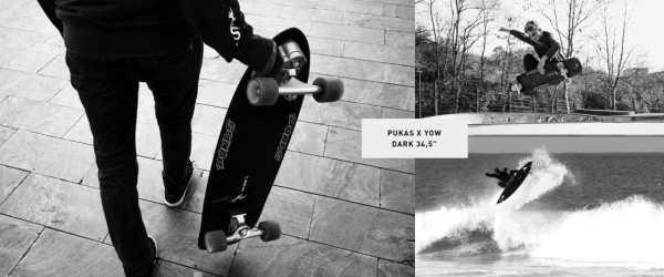 """Dark 34.5"""" Pukas x Yow Surfskate (2020)"""