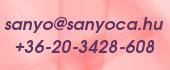 Sanyoca.HU Elérhetőségek