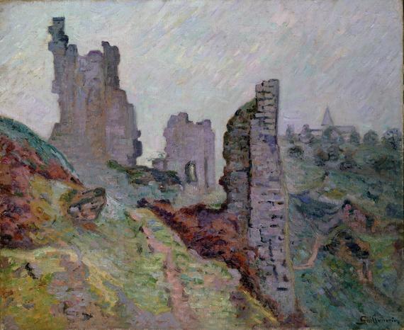 Guillaumin. Ruines dans le brouillard à Crozant. 1894