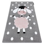 Details About Modern Kids Room Rug Dolly Petit Thick Grey Cheap Best Carpets For Children
