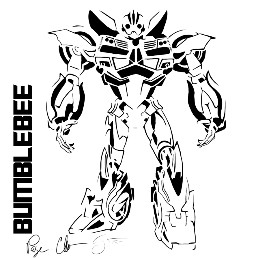 Bumblebee coloring pages