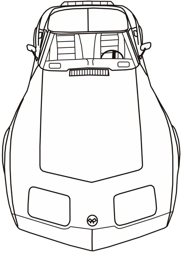 corvette coloring pages