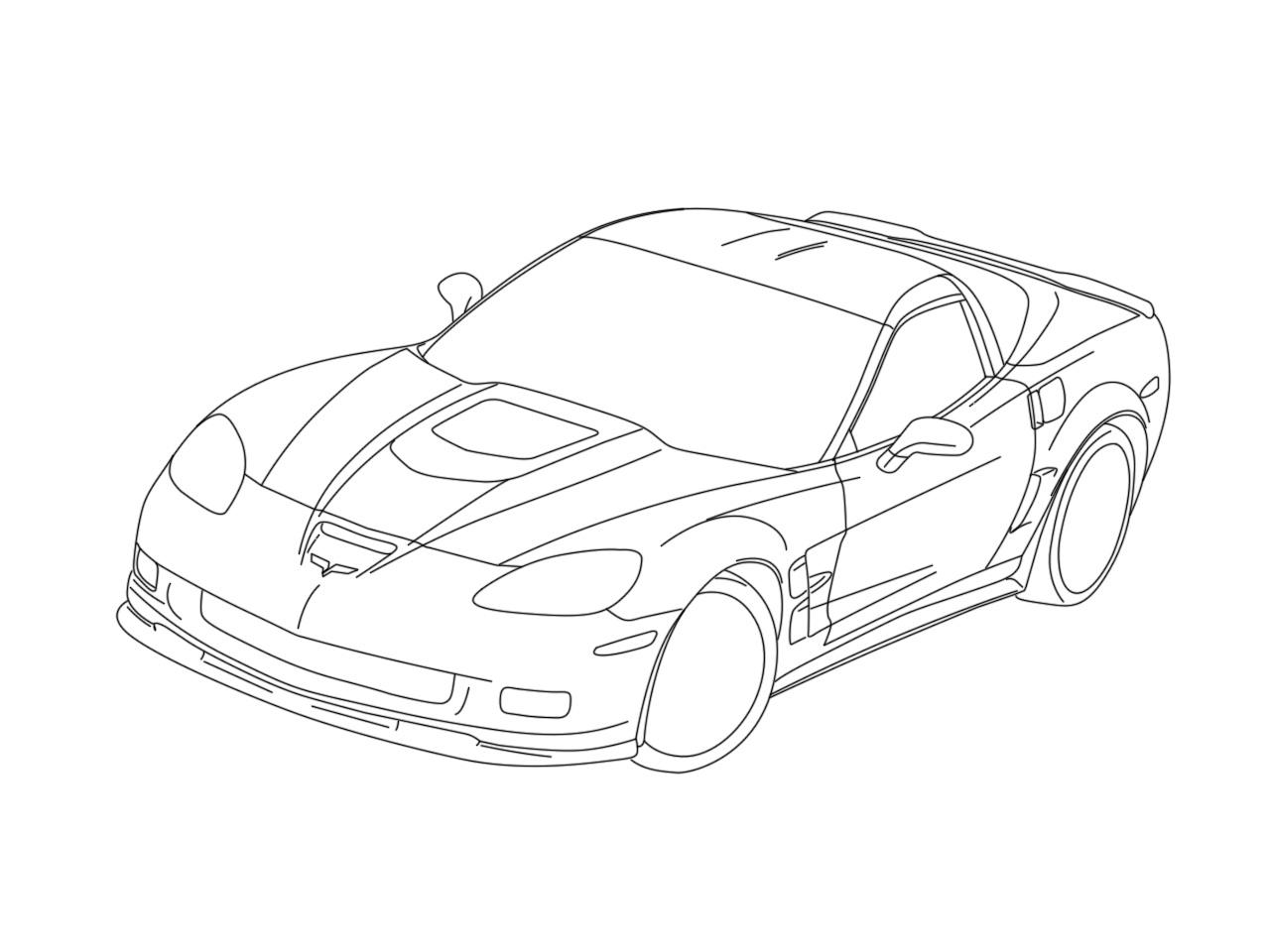 Evs Chevrolet Corvette Coloring Page Corvette Car .html