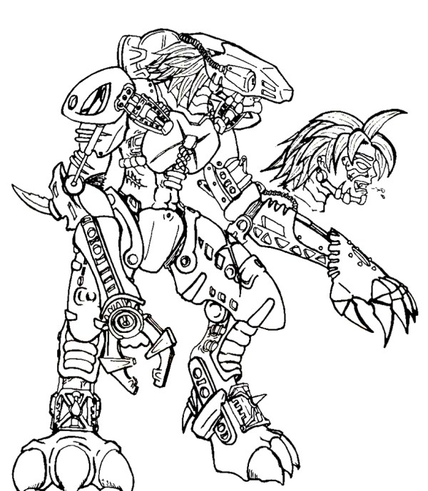 bionicle coloring pages # 83