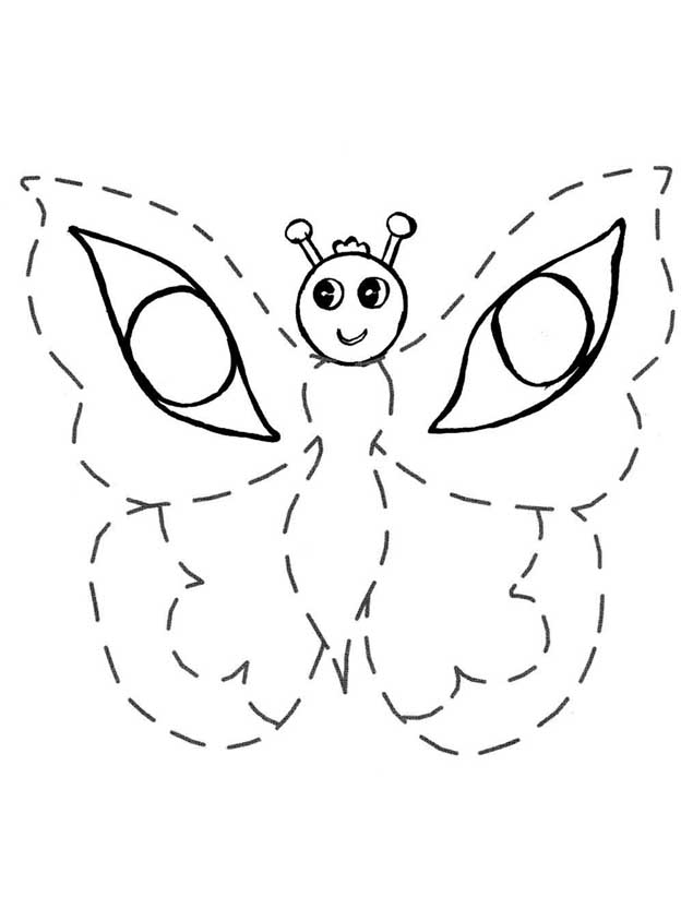 Coloring pages on points for children of 3-4 years