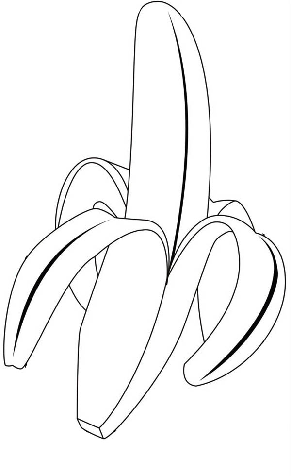 Banana coloring pages to download and print for free