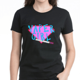 Vaper Girl Hero Electric T-shirt for ecigarette lovers