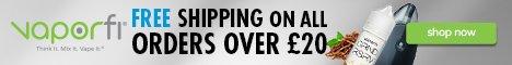 Vaporfi free shipping at Vaporfi over 20 GBP