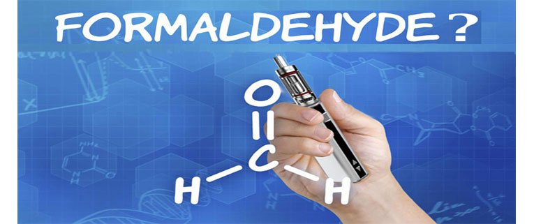 Hand holding vaporizer and formaldehyde formula