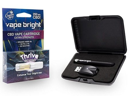 Vape Bright CBD pen kit in boxes