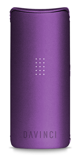 Davinci Miqro herb vaporizer shown in amethyst