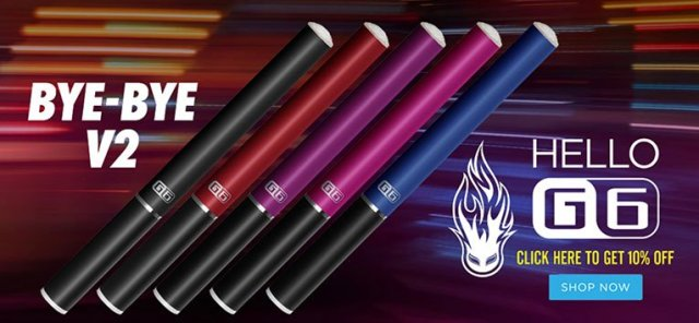 Halo G6 e-cigarettes in 5 colors