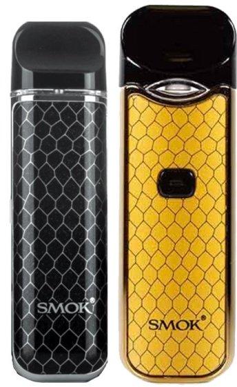 SMOK NOVO in black next to SMOK NORD in yellow