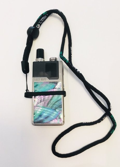 Lost Vape Orion Go pod mod with lanyard attached