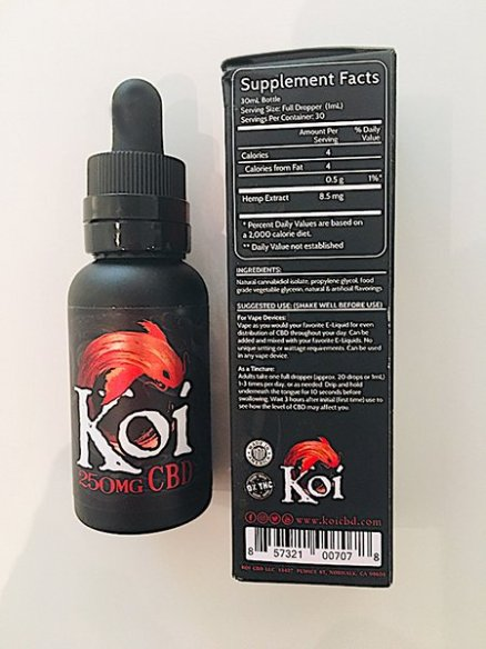 Koi Red CBD Vape Juice and box