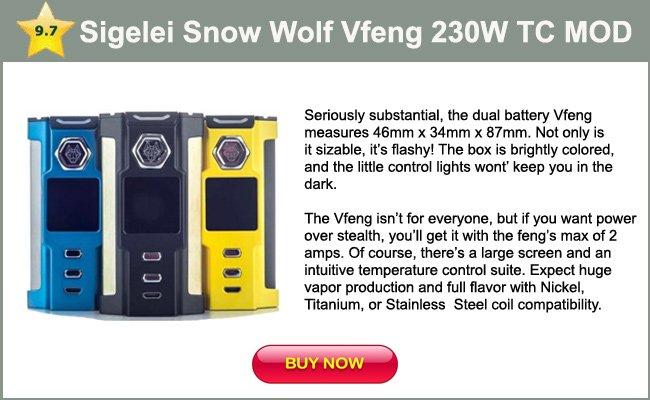 Sigelei Snow Wolf Vfend 230W TC MOD - mini review