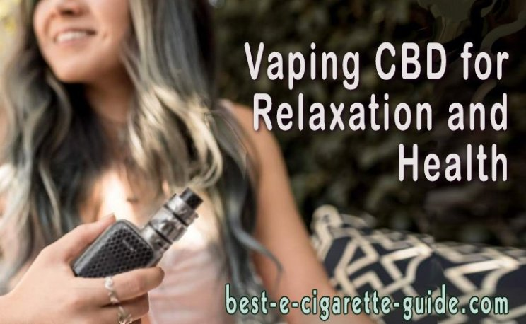 Vaping CBD for Relaxation and Health title