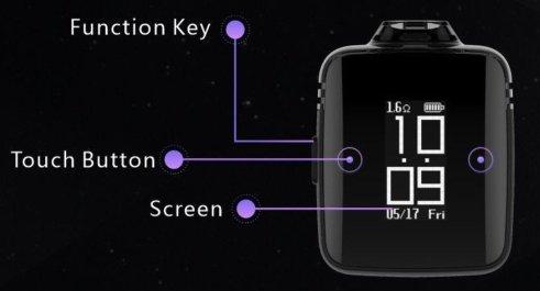 Amulet pod watch function keys