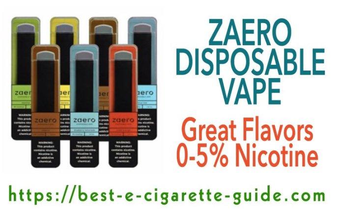 Zaero Disposable Vape Title Image 2020