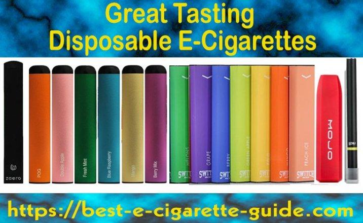 Great Tasting Disposable E-Cigarettes Title Image 6/2020