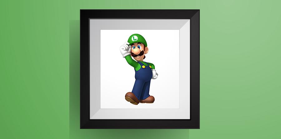 ルイージの色々なポーズ【マリオワールド】のアイロンビーズ図案!Luigi