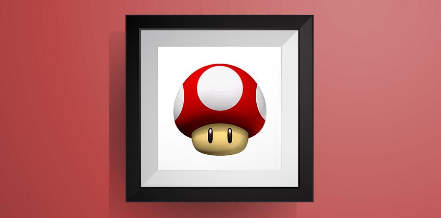 スーパーキノコ【マリオワールド】のアイロンビーズ図案! Super Mushroom