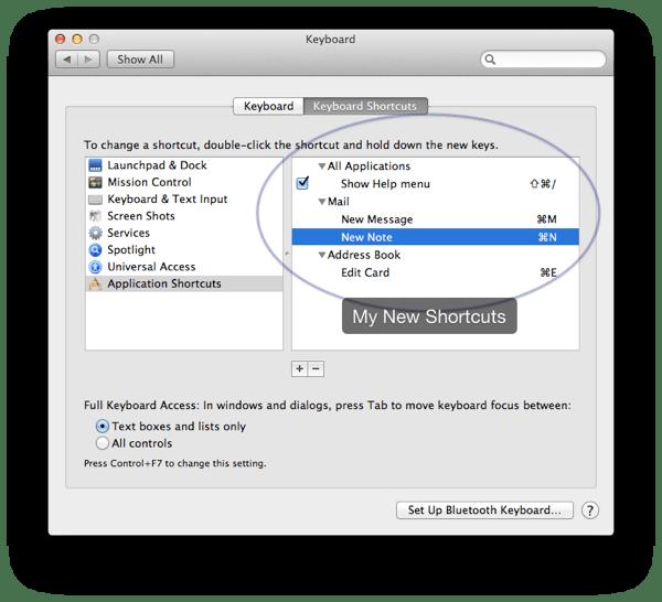 Shortcuts new