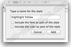 TextEdit addingstyle