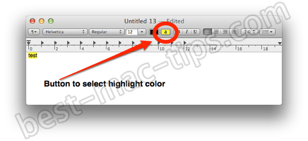 Textedit highlighter