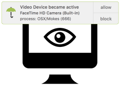 Blocking covert access to Mac mic and camera