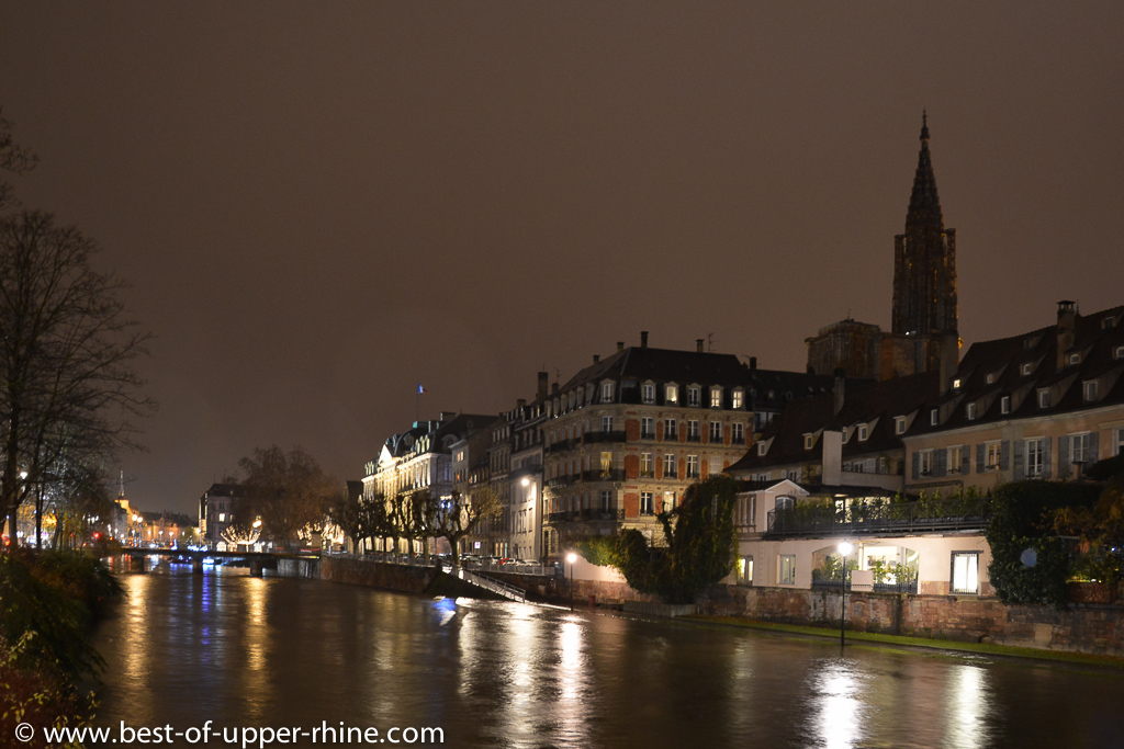 The old city of Strasbourg is an island, listed as World Heritage