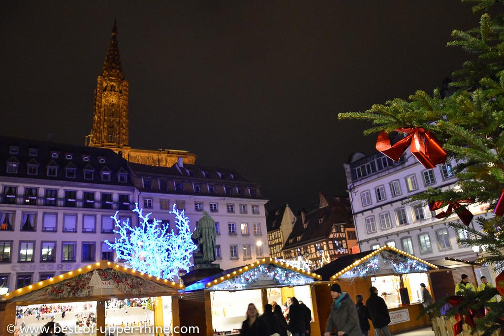 Georgian Christmas market at Gutenberg square in Strasbourg