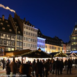 Traditional Christmas market in front of the Cathedral of Strasbourg. A magic atmosphere!