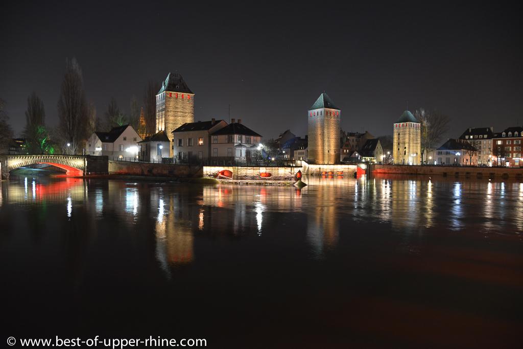 Ramparts of Strasbourg by night