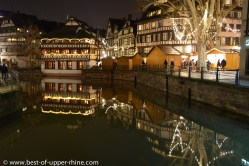 Christmas market at the Petite France in the Strasbourg