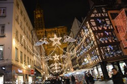 Christmas market near the cathedral of Strasbourg