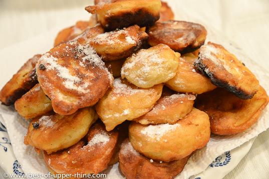 Alsatian Carnival apple doughnuts