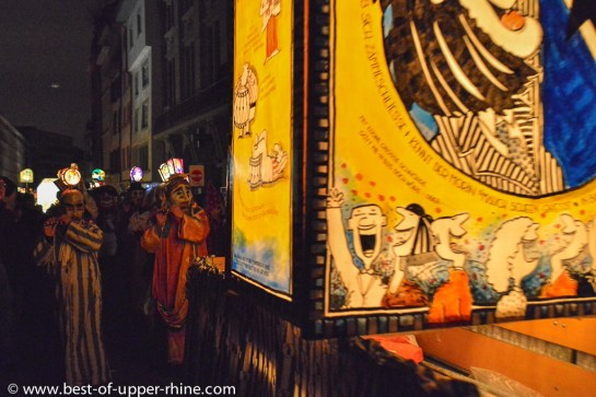 Procession of lanterns - Carnival of Basel