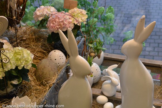 Easter Bunny decoration at the florist's