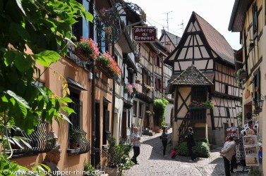 Street along the medieval ramparts of Eguisheim