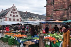 Saturday Münstermarkt near the cathedral in Freiburg im Breisgau