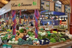 Organic vegetables and products are labelled AB (Agriculture Biologique)