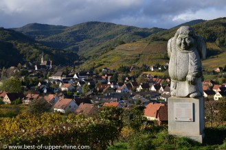 Andlau and its famous monk