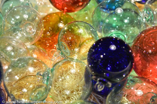 Christmas baubles at Meisenthal glass factory