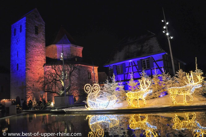 Christmas time in Ottmarsheim, Alsace