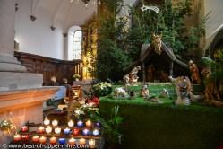 Nativity scene in the church of the Mount St Odile monastry