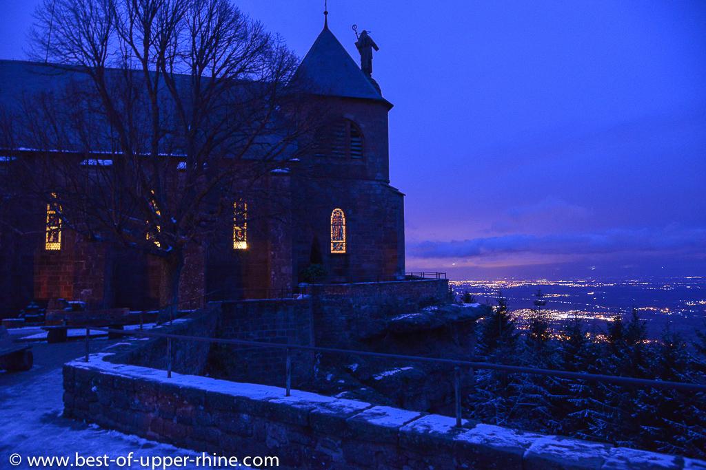 Christmas atmosphere in Obernai and Mount Sainte-Odile region