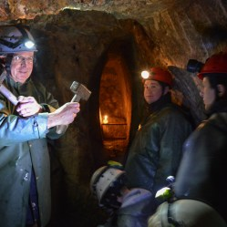 Visit an old silver mine from the Middle Ages