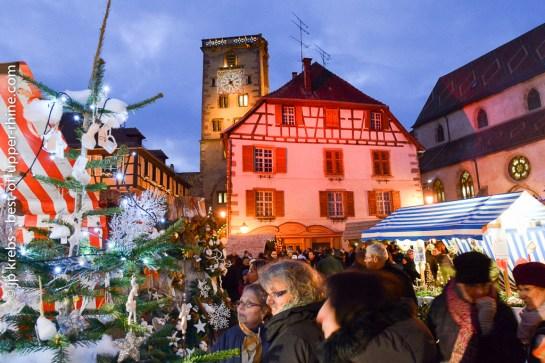 Mediaval Christmas market at Ribeauvillé, Alsace