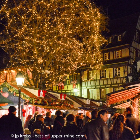 Evening in Colmar at the Christmas markets in December. Prefer weekdays as the crowd during weekends is important.